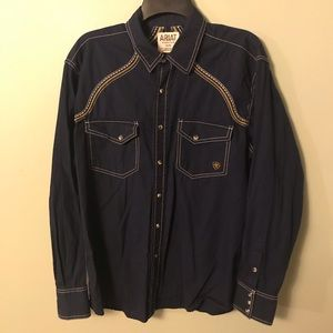 Men's Ariat Pearl Snap western shirt FLAW